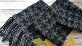тут изображено Тканый шарф