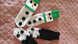 Носочки  ′Снеговики′