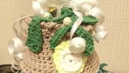 Вязанный торт ′Кофейный′