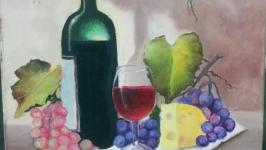 Картина ′Осенний натюрморт′, холст, масло, мастехин, размер 50х60 см