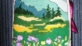 Книжка – игольница «Весна в горах»