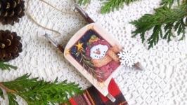 Санчата з Серії ′Кумедні сніговички′ №2.