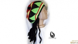 Rasta beret with dreadlocks