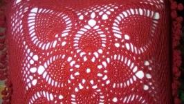 Кружевной чехол для диванной подушки