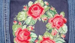 Косметичка с вышивкой «Розовый венок»