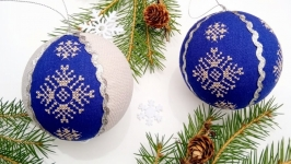 Christmas tree decoration with embroidery