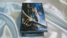 Шкатулка-книга ′Зимняя сказка′, подарок маме, жене,сувенир