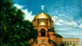 Собор Александра Невского в 5 часов тёплого летнего вечера