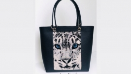 Сумка шопер  ′Сніжний леопард′