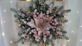 Новорічний вінок, Різдвяний вінок, зимовий вінок, хвойний вінок