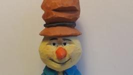 Деревянная игрушка ′ Снеговик 19′