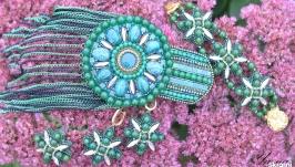 Комплект украшений из бисера ′Варисцит′
