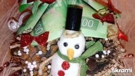 Новогодняя денежная ёлочка ′со Снеговиком′
