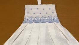 вафельное полотенце с декоративной отделкой