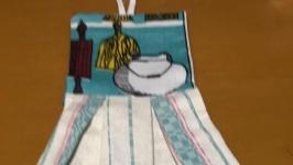 льняное полотенце с декоративной отделкой
