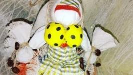 Кукла-кубышка КОФЕЙНАЯ, по принципу народной куклы-мотанки Травница