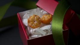 Сережки мандарини,  подарунок до нового 2020 року
