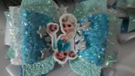 Бантики с принцессой Эльзой и прядями