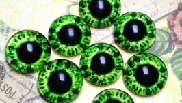 Glass cabochons, eyes for toys 8 mm No.92