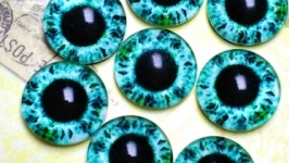 Glass cabochons, eyes for toys 8 mm No.93