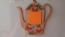 Магніт з нотатничком для кухні в торбинці