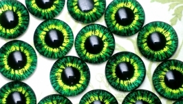 Glass cabochons, eyes for toys 6 mm No.8