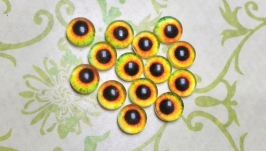 Glass cabochons, eyes for toys 6 mm No.61