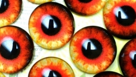 Glass cabochons, eyes for toys 6 mm No.84