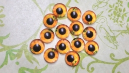 Glass cabochons, eyes for toys 6 mm No.62