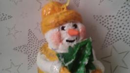 Елочная игрушка, Снеговик с ёлочкой