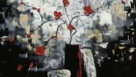 Абстракция, арт  «Красное и черное»