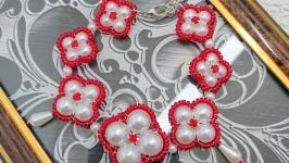 Браслет плетеный: из бисера и бусин Чика 2