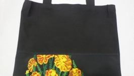 Еко-сумка Чорнобривці від Richelieu Studio LO