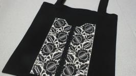 Еко-сумка Чорні троянди від Richelieu Studio LO