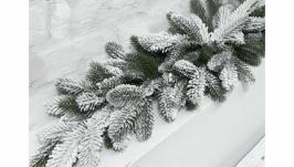 Новорічна гірлянда (лита засніжена) 1 м