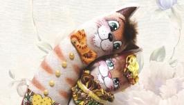 тут изображено Коты неразлучники на ситцевую свадьбу