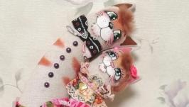 тут изображено Неразлучники котики на ситцевую свадьбу