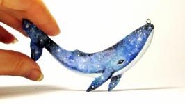 Именной подарок кулон кит украшение подвеска с китом на заказ