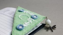 тут изображено Именная закладка для книг уголок Подарок для девушки
