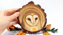 Подвеска декор из дерева Сова тотем сова украшение декор