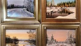 Зимние пейзажи 13х18см
