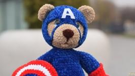 Мишка Супергерой Капитан Америка