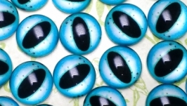 Glass cabochons, eyes for toys 16 mm No.35