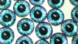 Glass cabochons, eyes for toys 16 mm No.19