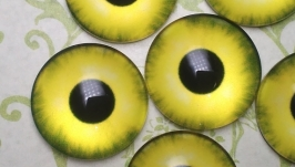 Glass cabochons, eyes for toys 16 mm No.12