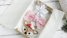Подарочный набор резинок для девочки  Новогодние резинки в подарок
