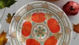 Яркое настроение, декоративная тарелка