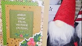 Christmas card New Year′s card