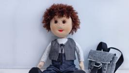Кукла мальчик ручной работы, Тряпичная кукла