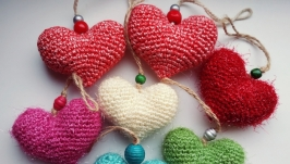 Сувенир Вязаные сердечки
